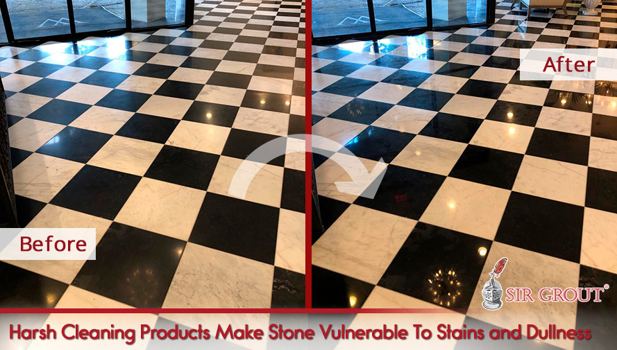Using Wrong Cleaning Products Will Make Stone Floors Vulnerable to Stains and Dullness